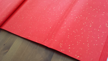Red-colored Xuan Paper with Golden Flakes 5 Sheets 27.5x55