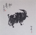 An Abstract Goat in Xieyi or Free Style