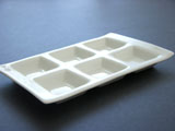 6-Compartment Ceramic Rectangular Tray Palette