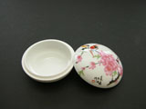 Porcelain Box for Seal Ink Paste - Peach Flower