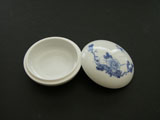 Porcelain Box for Seal Ink Paste - peony flower