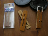 Bamboo Inkstick Clamp or Clip Holder