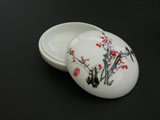 Porcelain Box for Seal Ink Paste - Plum Blossoms
