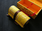 Blank Hand Scroll with Silk Brocade Box(Golden)
