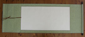 "Blank Hanging Silk Scroll 59.5""x23.5"" LG-012"