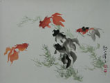 DW0004 Goldfish Painting Sample