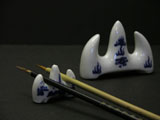 Blue and White Porcelain Brush Rests