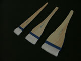 Goat Hair Flat Hake Brush - set of three sizes