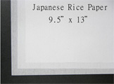 Japanese Rice Paper for Sumi-e or Calligraphy White 100