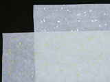 Unsized Xuan Paper w Golden/Silver Flakes 26x53
