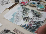 Henry Li's Chinese Painting Class Video(04)