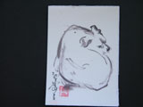 ACEO-A0033 Coiled Sleeping Dog