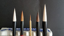 Five(5) Basic Chinese Painting Brushes for CBP