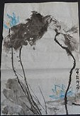 Gift Painting 108 Blue Lotus #2