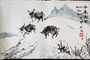 Three Oxen Happy Niu Year