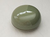 Porcelain Box for Seal Ink Paste - Green