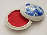 Lotus Porcelain Box with Red Seal Paste(20g)