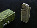 "1"" Qingtian Soapstone with Monkey Knob #08"