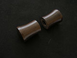 Hardwood dowel knobs for Hanging Scroll