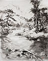 Sumi Landscape with water reflections(2021)