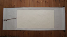 "Blank Hanging Silk Scroll 59.5""x23.5"" LG-003"