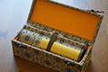 Blank Hand Scrolls with Silk Brocade Box 16cmx2.6M
