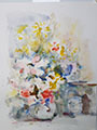 Gift Painting 133 Watercolor Flowers 12x9
