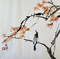 Bird on a Maple Branch  13'x13""