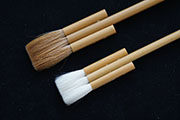 Three Stem Flat Brushes (White/Brown)